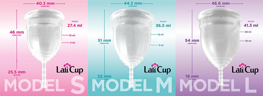 Cupa menstruala LaliCup marimi