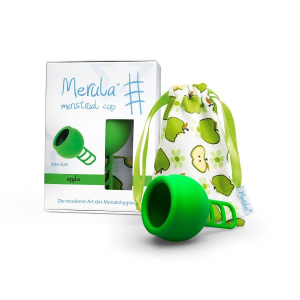 Cupa menstruala Merula Apple verde marime universala