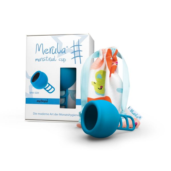 Cupa menstruala Merula Mermaid albastru marime universala