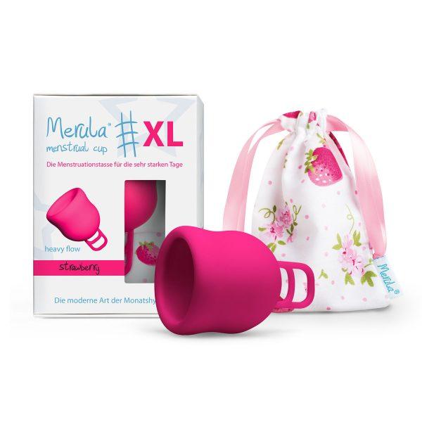 Cupa menstruala Merula XL roz strawberry