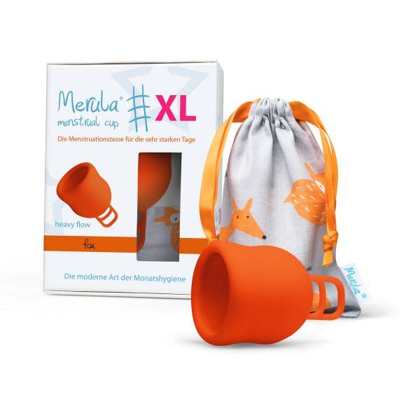 Cupa menstruala Merula XL Fox portocaliu