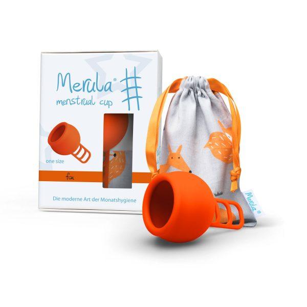Cupa menstruala Merula Fox portocaliu