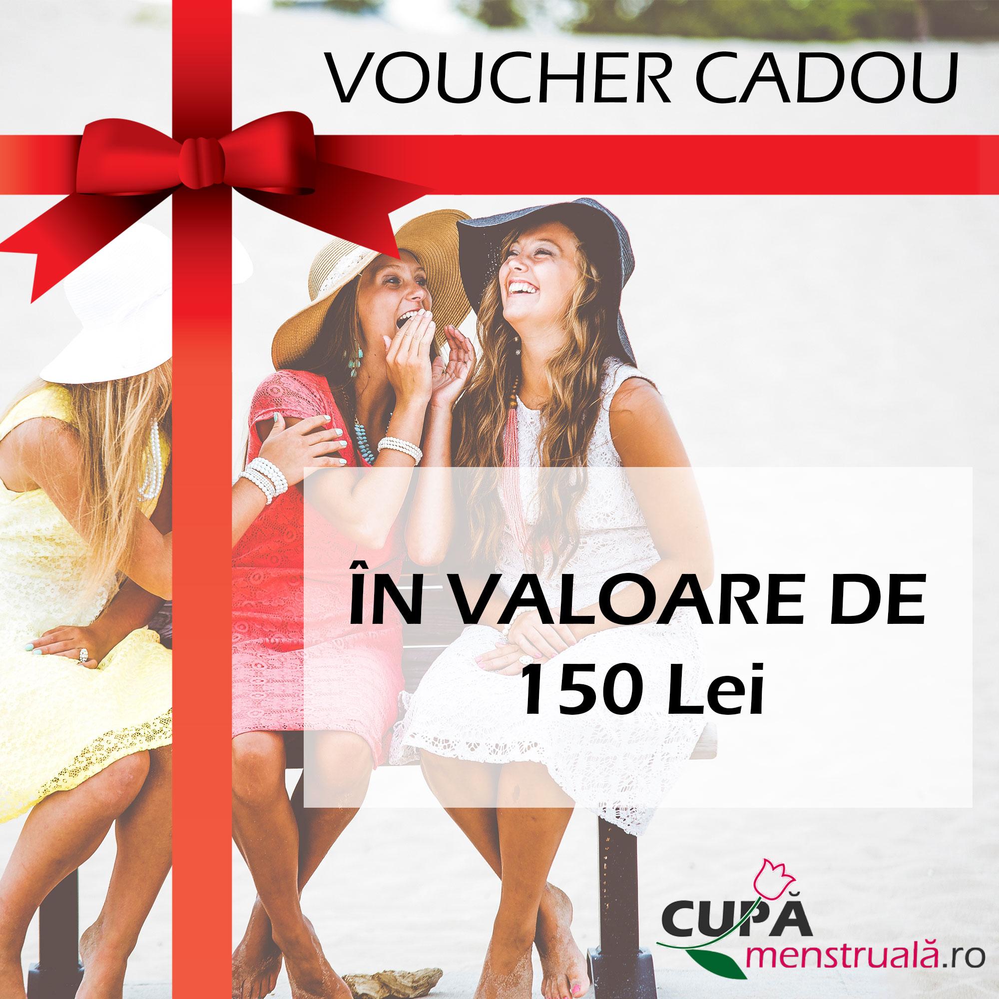 Voucher Cadou 150lei Cupa-Menstruala.ro