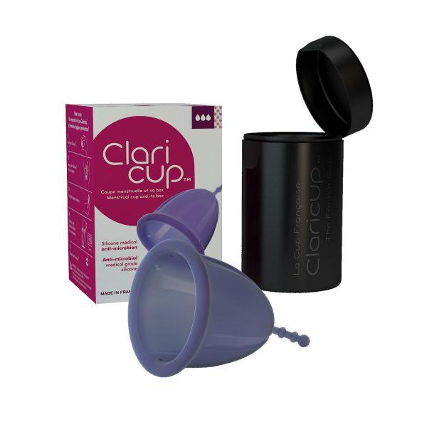 Cupa menstruala Claricup din silicon medical biocompatibil si anti-microbian