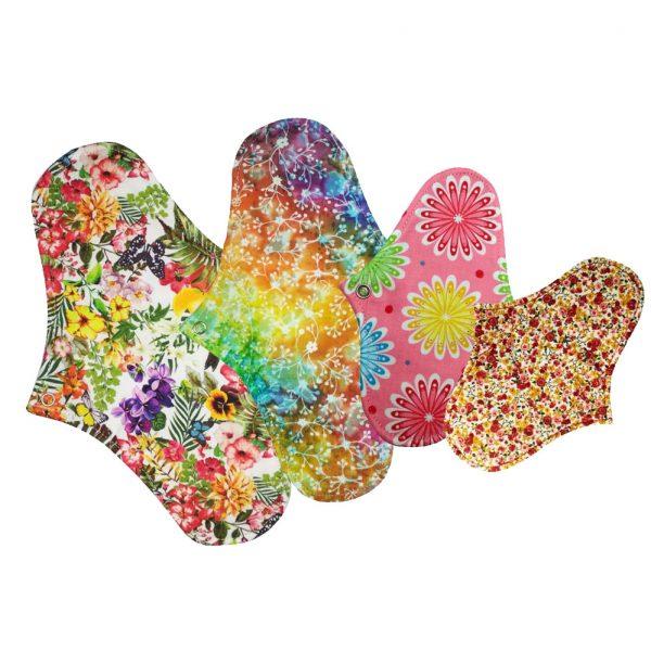 Pachet absorbante lavabile Starter Kit Floral-Design, 4 bucati+accesorii