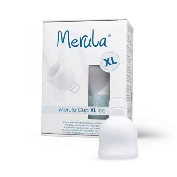 Cupa menstruala Merula XL Ice transparentCupa menstruala Merula XL Ice transparent