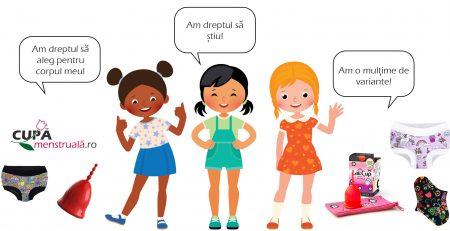 Prima menstruație si alegerea cupelor menstruale pentru fetițe