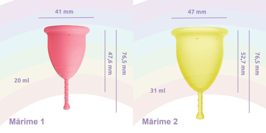 Cupa menstruala Rainbow cup